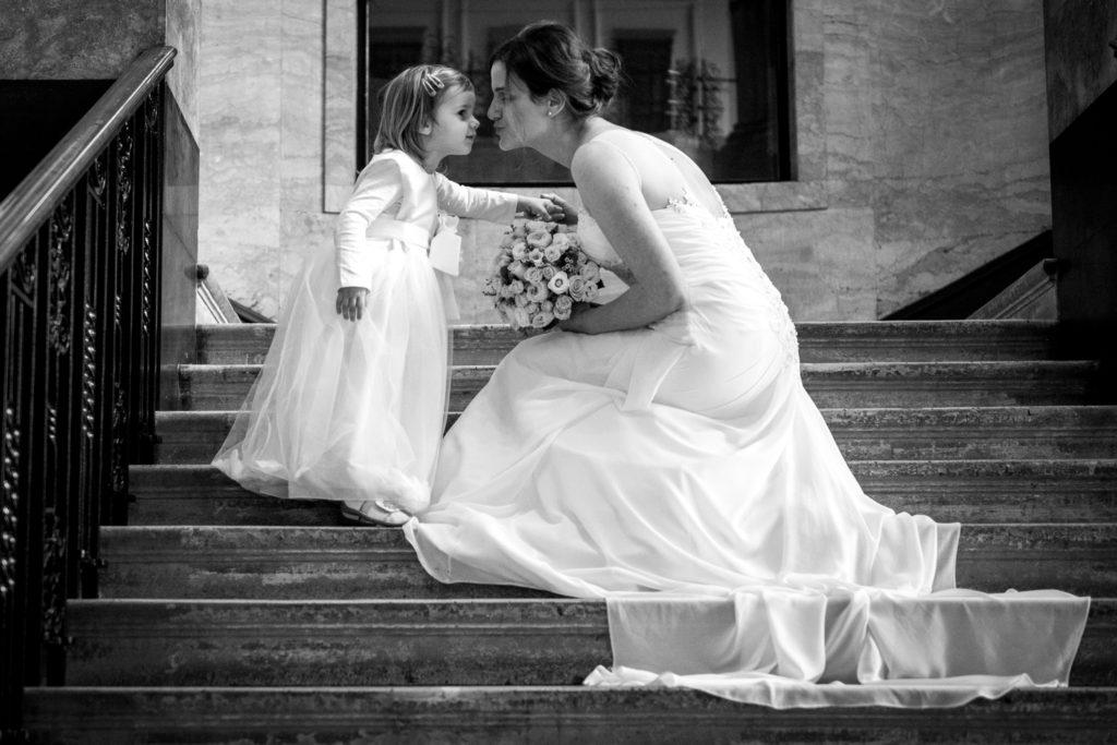 daughter kiss