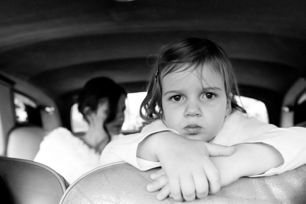 daughter in car