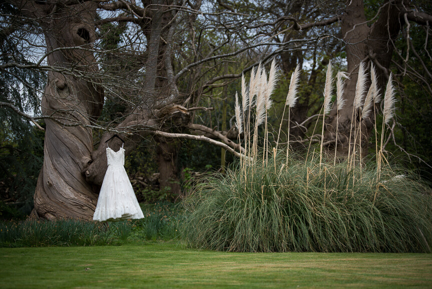 Wedding Dress in Holmbush House gardens