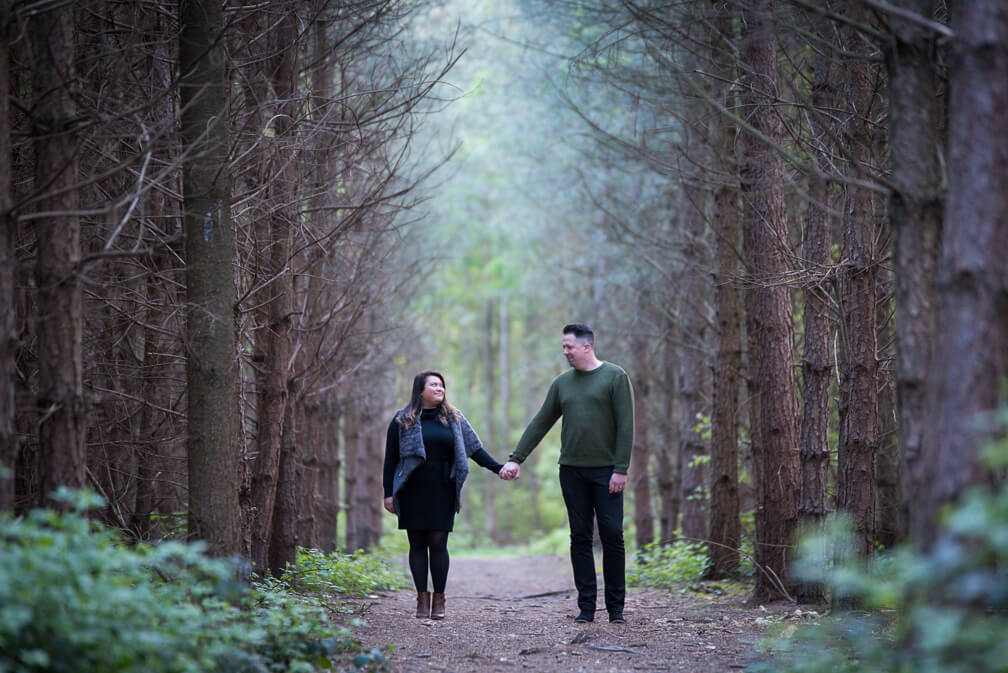 Black park engagement shoot