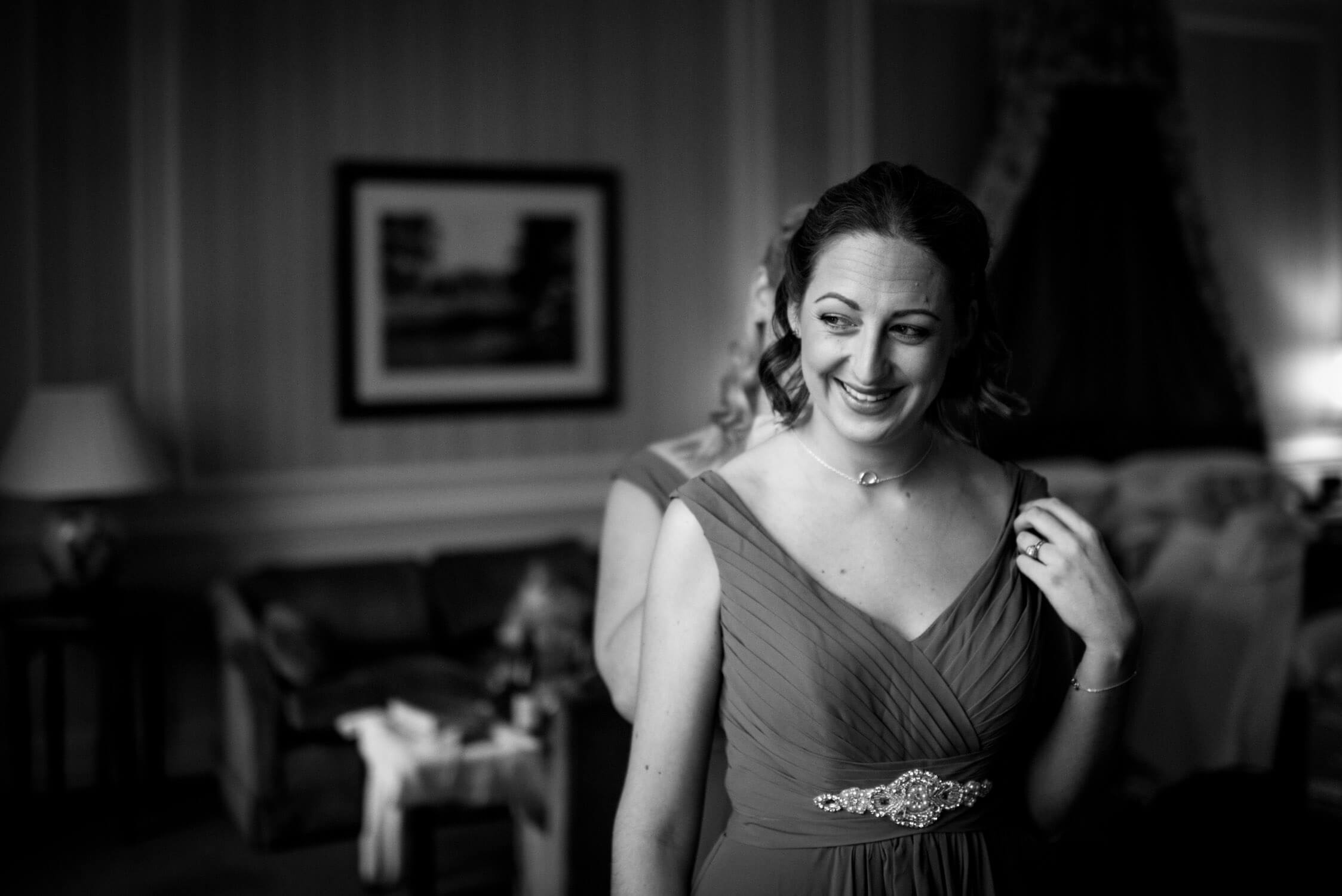 Bridesmaid at Tylney Hall