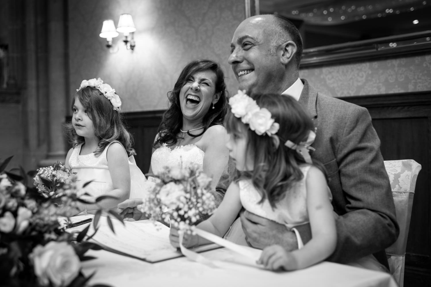 Bride and Groom at Ashdown Park Hotel