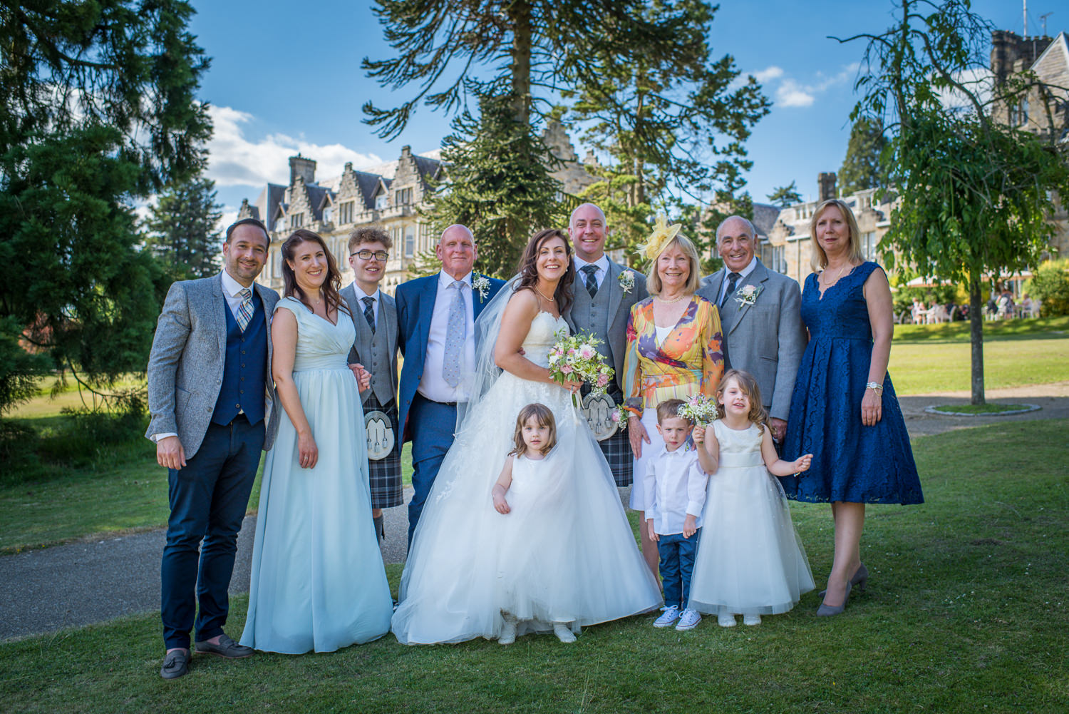 Family photograph at Ashdown Park Hotel