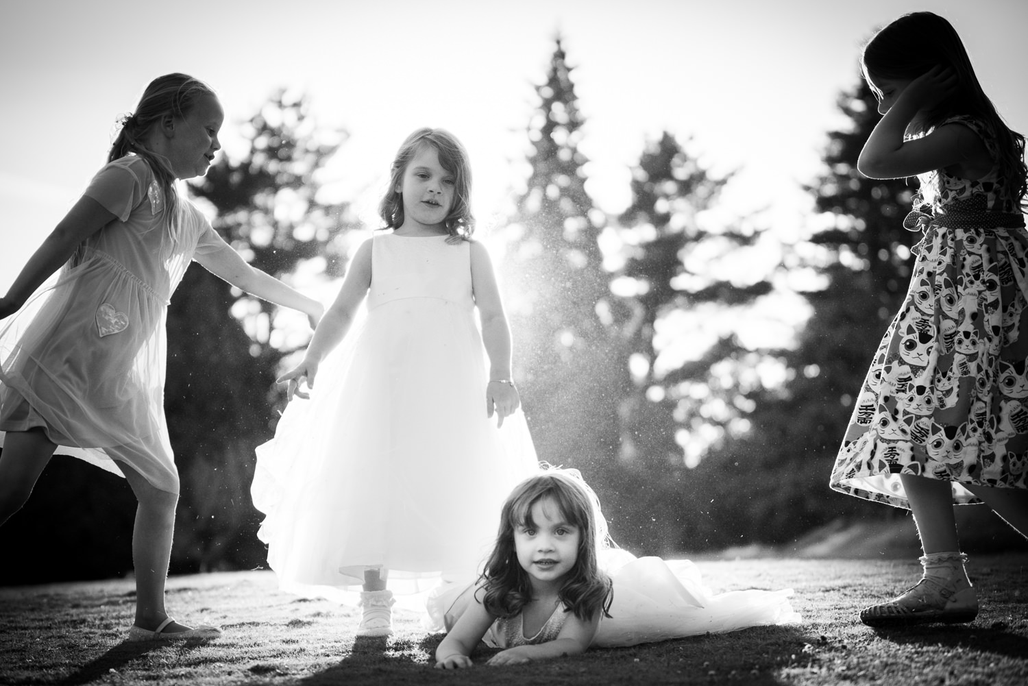 If you follow them closely enough, children can provide some fabulous photos at Ashdown Park Hotel
